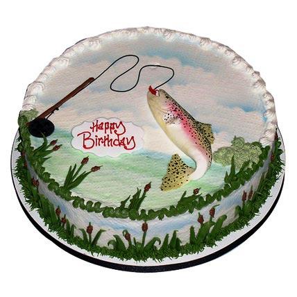 Happy Fishing Cake 2kg Eggless