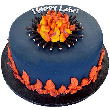Happy Lohri Chocolate Cake 1kg Eggless