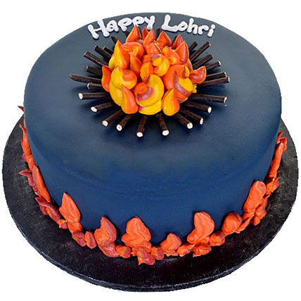 Happy Lohri Chocolate Cake 3kg Eggless