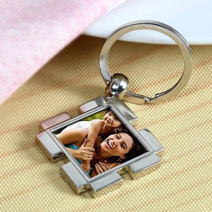 Happy Mom Personalized Keychain
