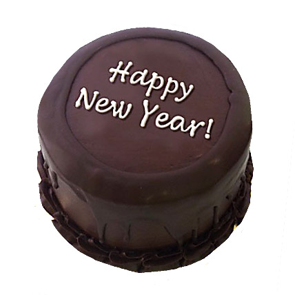 Happy New Year Chocolate Cake 1kg Eggless
