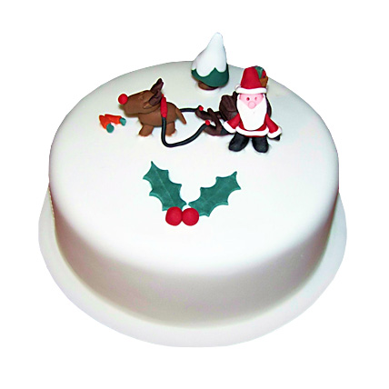 Happy Santa Christmas Cake 1kg Eggless