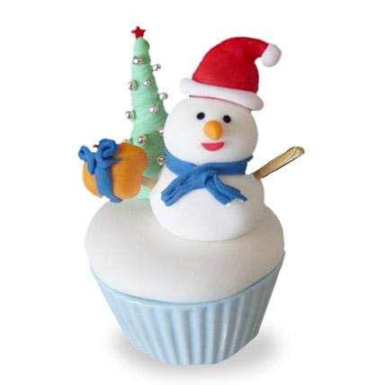Happy Snowman Cupcakes 12