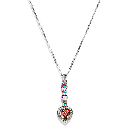 Heart shape Padparadscha Crystal and Pendant