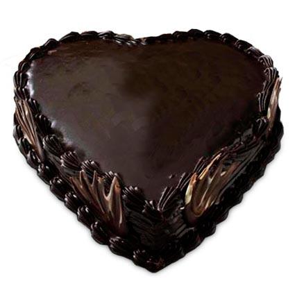 Heart Shape Truffle Cake Half kg Eggless
