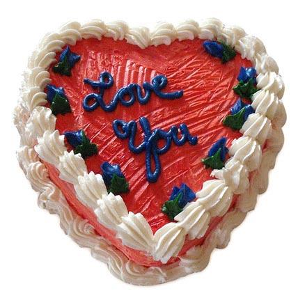 Heart Shape Valentine Cake 1kg Eggless