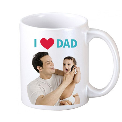 I Love Dad Personalized Coffee Mug
