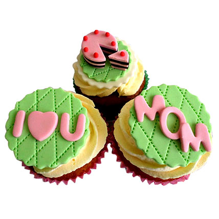 I Love You Mom Cupcakes 6