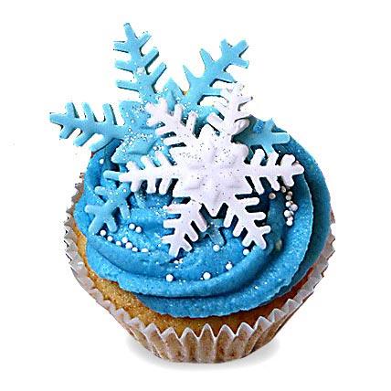 Iced Christmas Cupcakes 6 Eggless