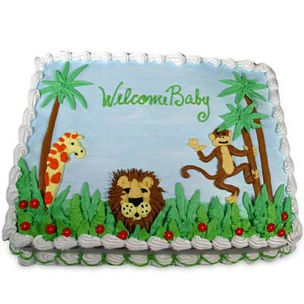 Jungle Theme Cake 3kg Eggless