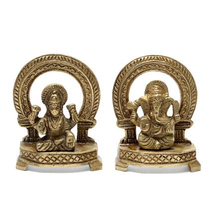 Lakshi Ganesha Brass Idol