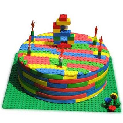 Lego Cake 3kg Eggless