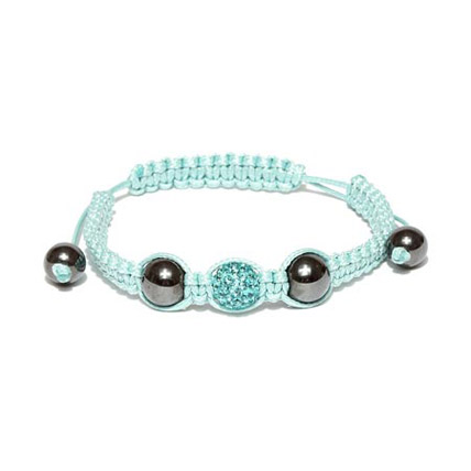 Light Blue Beaded Macrame Bracelet
