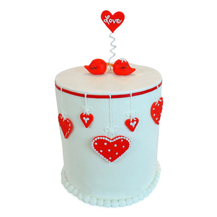 Love Birds Cake 4kg Eggless