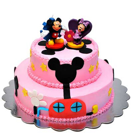 Lovely Mickey Minnie Cake 3kg Eggless