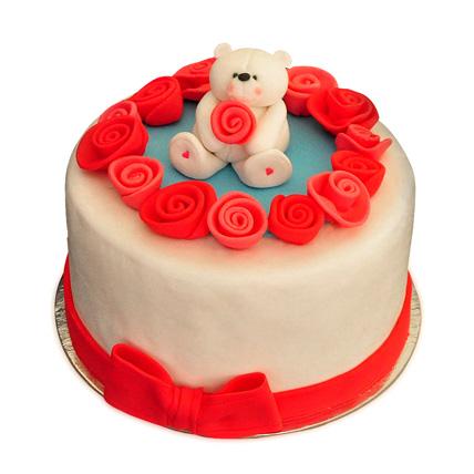 Lovely Teddy Bear Cake 3kg Eggless