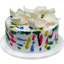 Lovely Vibrant Holi Cake 2kg Eggless