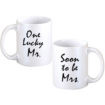 Lucky Mr and Soon To Be Mrs Couple Mugs