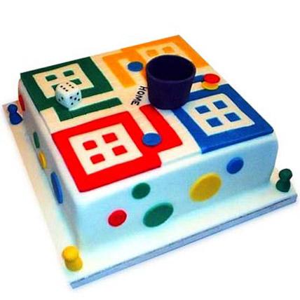 Ludo Artistic Birthday Cake 3kg Eggless