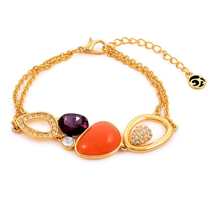Magnificent Peacock Gold Plated Bracelets