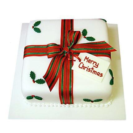 Merry Christmas Cake 2kg Eggless