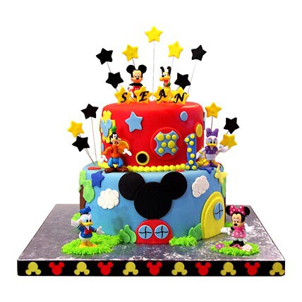 Mickey Mouse Clubhouse Cake 5kg Eggless