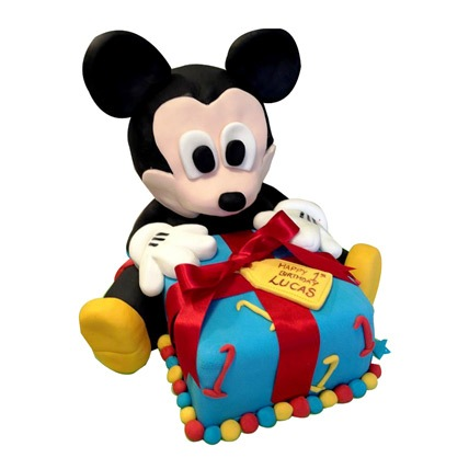 Micky Mouse Gift Cake 5kg Eggless