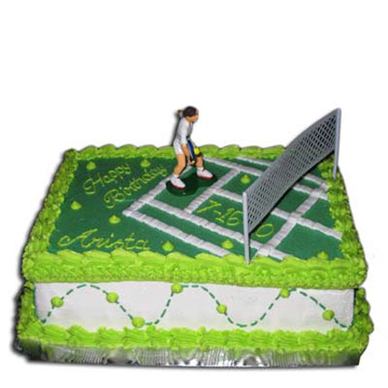 Mind Boggling Tennis Court Cake 4kg Eggless