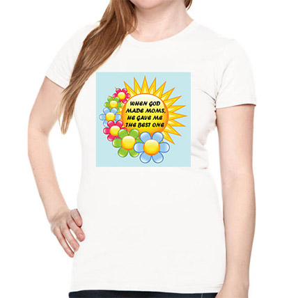 Mommy Printed All Over T Shirt Small