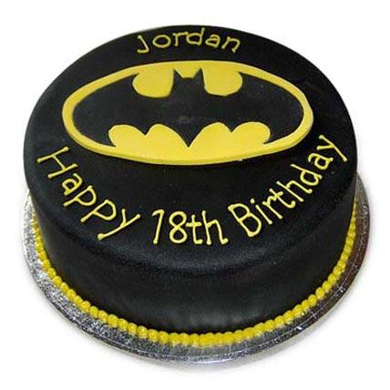 Mouthwatering Batman Cake 4kg Eggless