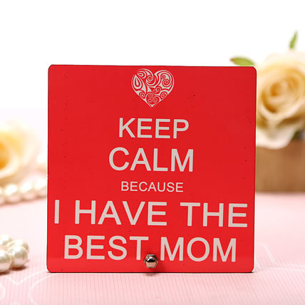My Best Mom Plaque
