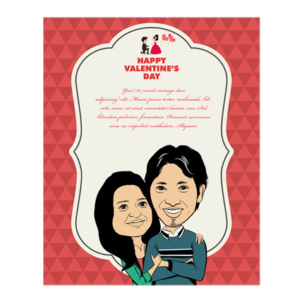 My Life Caricature Card