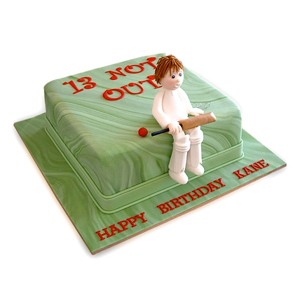 Not Out Cricket Cake 1kg Eggless