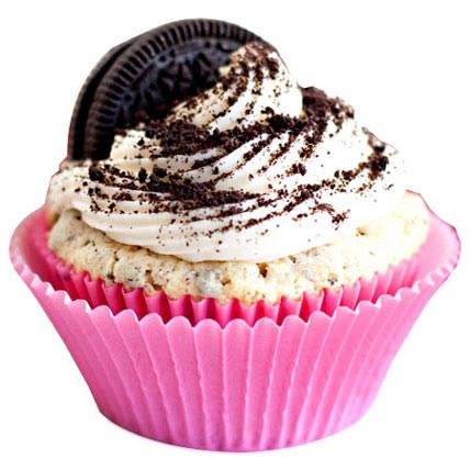 Oreo Cream Cupcakes 12 Eggless