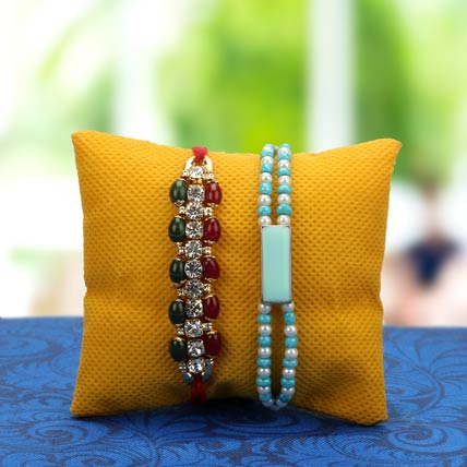 Pearl Beaded Rakhi