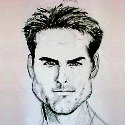 Pencil Caricature A4 Size