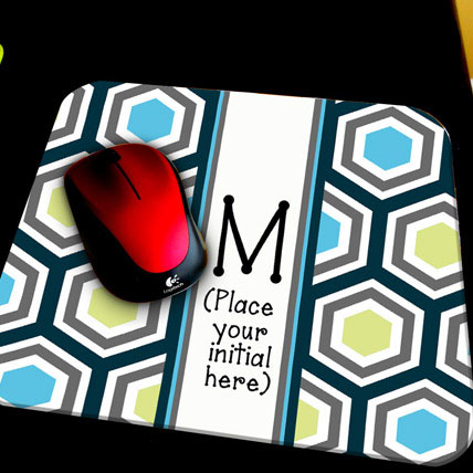 Personalized Initial Mouse Pad