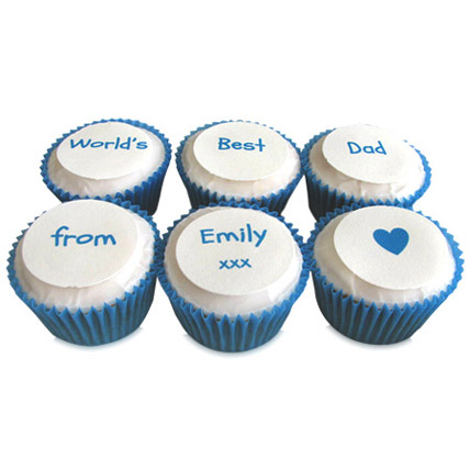 Personalized Message Cupcakes 6 Eggless