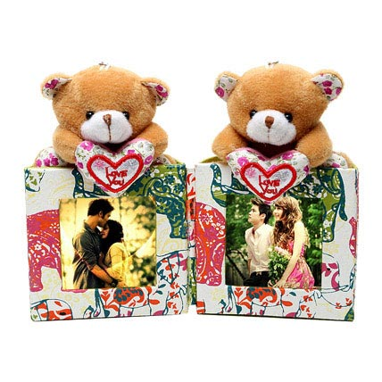Photo Frame Holder with Teddy