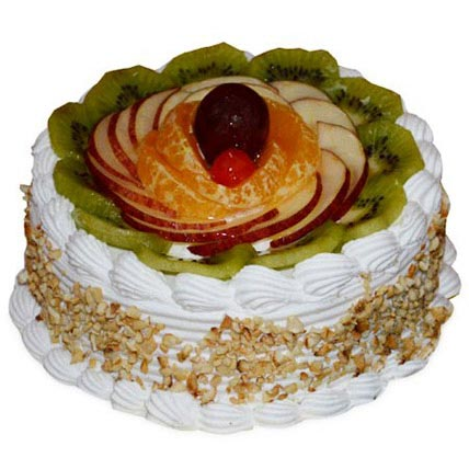 Pineapple And Fruits Cake Half kg Eggless