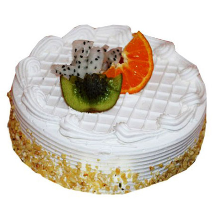Pineapple With Fruits Cake 2kg Eggless