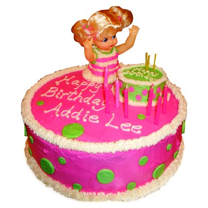 Pink Doll Birthday Cake 4kg Eggless