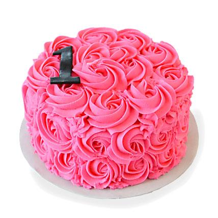 Pinkilicious Cake 2kg Eggless