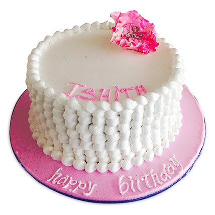 Pretty Flower Cake 1kg Eggless