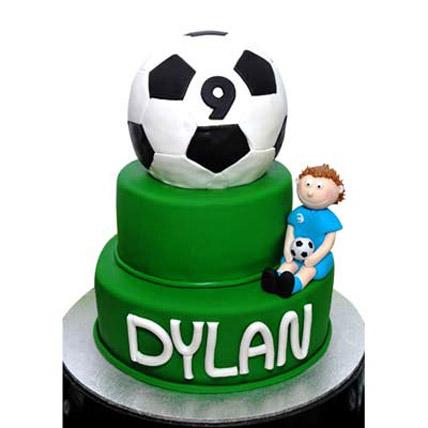 Pure Soccer Cake 4kg Eggless