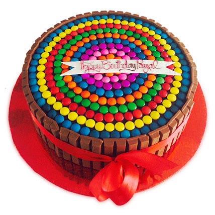 Rainbow Candy Cake 2kg Eggless
