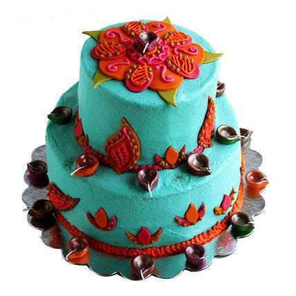 Rangoli Diya Cake 4kg