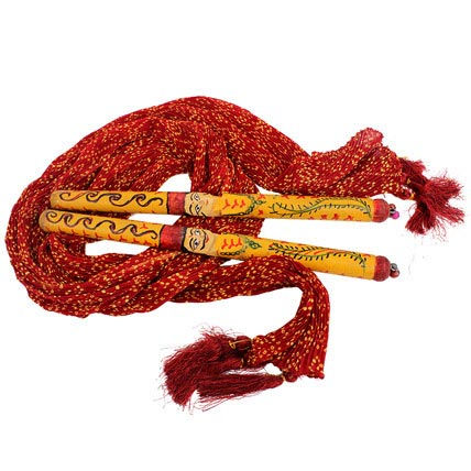 Red Stole and Dandiya
