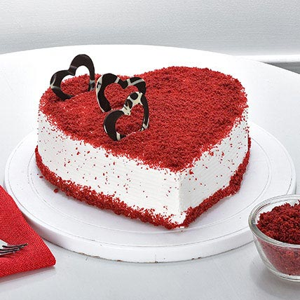 Red Velvet Heart Cake 2kg Eggless