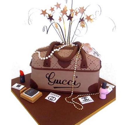 Rich Gucci handbag Cake 4kg Eggless